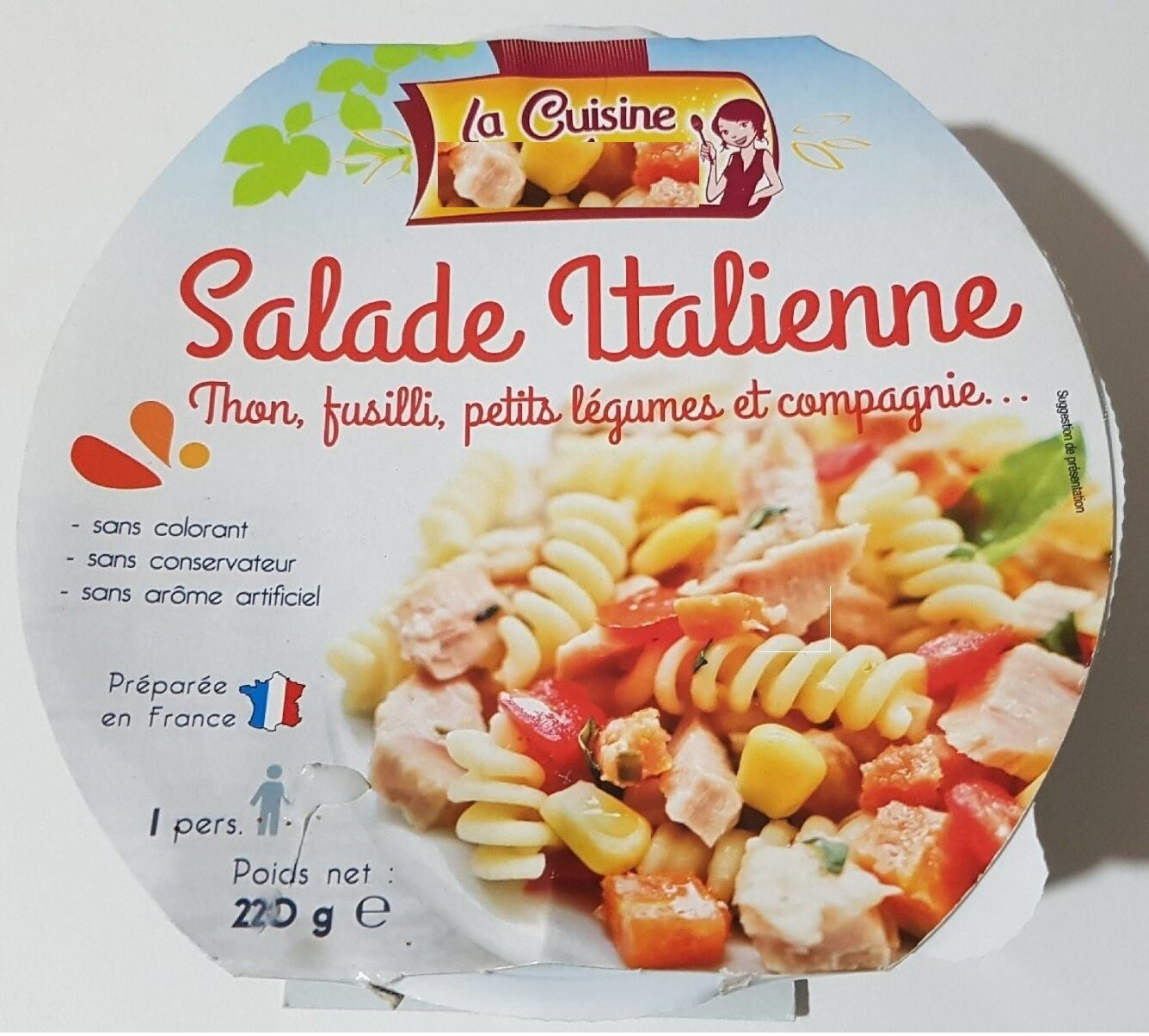 Salade Italienne thon,...